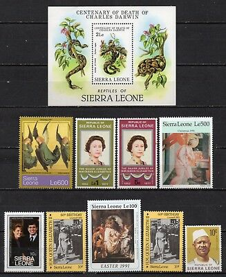 Sierra Leone very nice unmounted mint collection,stamps as per scan(5051)