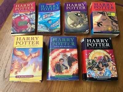 Harry Potters Books - All 7 - Hardback and Paperback