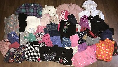 Baby Girls Fall Clothes Jackets Pants Long Sleeves Sz 12-18 Months Lot Of 45
