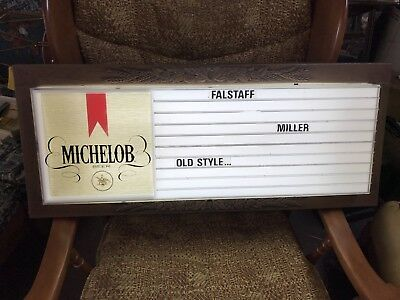 Michelob Beer Lighted Advertising Menu Board Sign