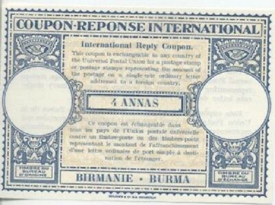 Burma - International Reply Coupon - London Model - issued 04/1947 - Mint