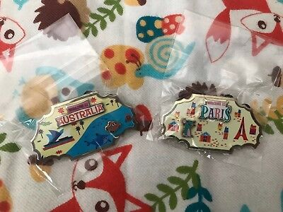 2 Disney Movie Rewards 'Around The World' Limited Pins #3 Nemo #4 Remy NEW