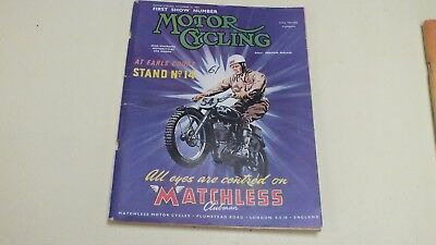 Vintage The Motor Cycle Magazine First Show Number Motor Cycling Nov 12Th 1953