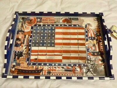 Annie Modica - 4th of July USA America Serving Tray - BRAND NEW - Collectible