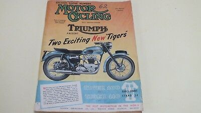 Vintage The Motor Cycle MagazineSecond Show Number Motor Cycling Nov 19Th 1953