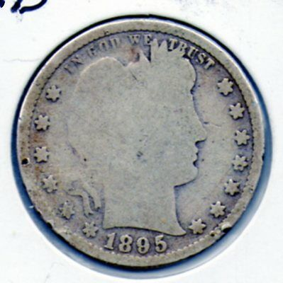 Nice 1895 Barber Quarter Great coin for the collector book FREE ship in the USA