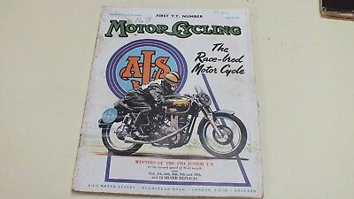 First T.t. Number Motor Cycling Magazine June 9Th 1955