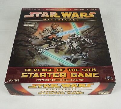STAR WARS Miniatures Revenge of the Sith Starter Board Game New Open Box