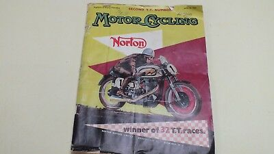 Second T.t. Number Motor Cycling Magazine June 16Th 1955