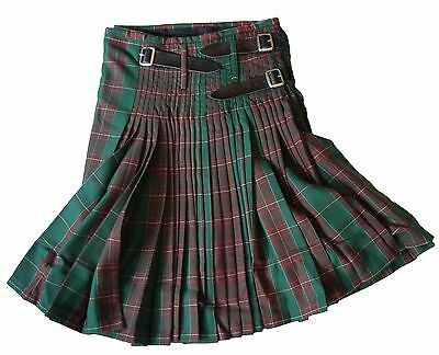 Mens Welsh Heavy Pleated St Davids Tartan Check Kilt Wales