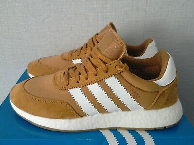 Men's Adidas Iniki I-5923 Trainers Brown Suede UK 9 New