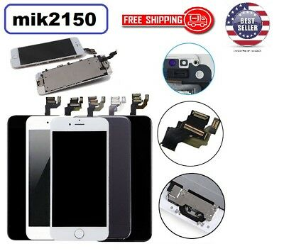 For iPhone 7 & 7 plus White LCD Touch Screen Replacement with home button camera