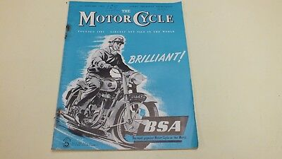 Vintage The Motor Cycle Magazine 26Th Jan 1956
