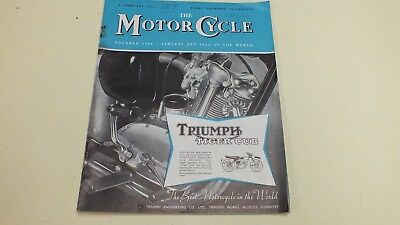 Vintage The Motor Cycle Magazine2 Nd Feb1956