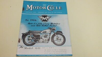 Vintage The Motor Cycle Magazine9Th Feb 1956 Full Of Pics And Info