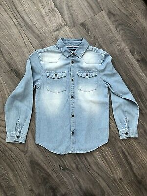 Boys Long Sleeved Denim Shirt