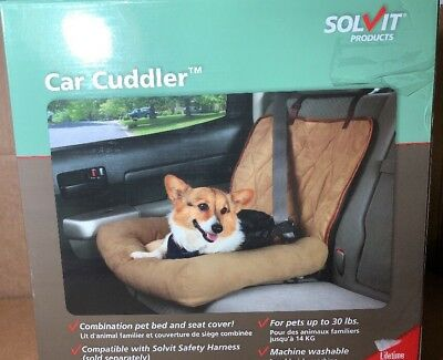 Car Cuddler Bolster Seat Cover , PartNo 62431, by Solvit Products, Size 20DX25W,