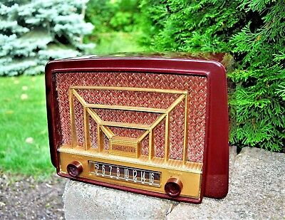 Serviced Antique Vintage Westinghouse AM Tube Radio ATOMIC Works Great!