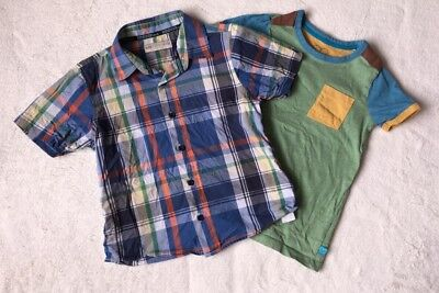 MS Mothercare Boys Checked Shirt And Top T 5 6