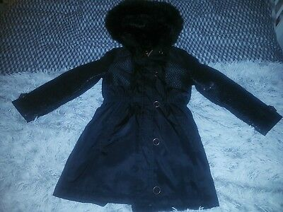 Girls Black Ted Baker Coat Age 10 Years. Gorgeous