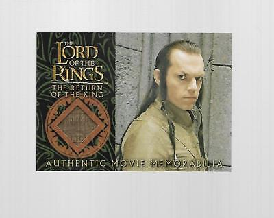 2004 Topps Chrome Lord Of The Rings Elrond's Bronze Silk Robe Costume Card