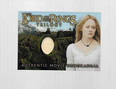 2004 Topps Chrome Lord Of The Rings Eowyn's Golden Hall Dress Costume Card