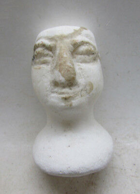 Bactrian Margiana Steatite Male Bust, Central Asia, Rare