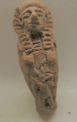 Beautiful Undated Egyptian Terracotta Funerary Figure