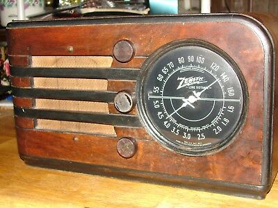 1936 Zenith Model 6D117  Tabletop Radio.  Restored and Works