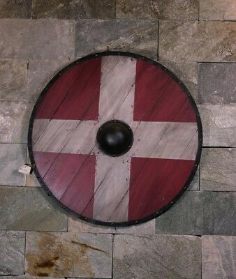 D17 Europe Retro Medieval Shield Antique Knight Armour Wall Home Decor Full Size