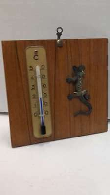 Thermometer with lizard made of bronze
