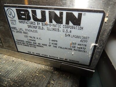 Bunn  Coffee Grinder  LPG Serie                Low Profile Portion Control