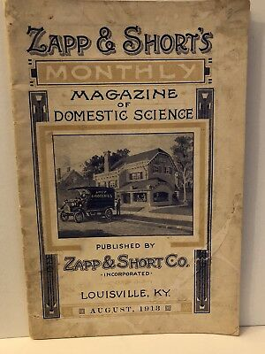 1913 Zapp & Short's Grocery Louisville KY Price List Order Form Beer Whiskey Mag