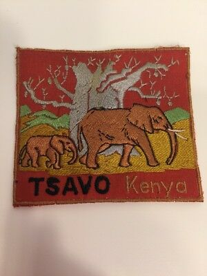 Vintage Patch From Kenya TSAVO Elephant 3 Inches