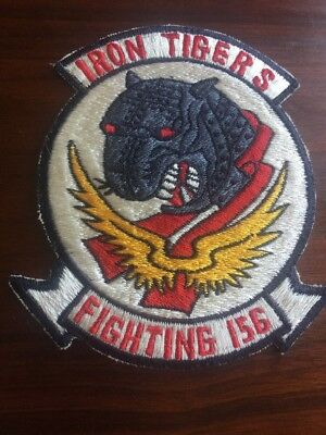 post WW2 Navy VF- 156 Iron Tigers VERY RARE squadron patch Named