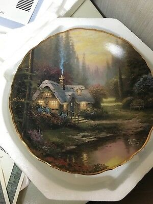 Thomas Kinkade Meadowood Cottage Collector Plate Guiding Light Collection
