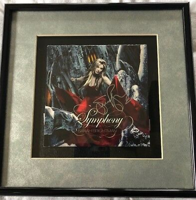 Sarah Brightman Signed Symphony CD Framed  Autograph Authentic Signed
