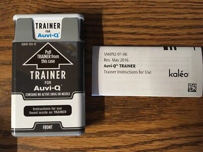 TRAINER for Auvi-Q talking teaching device allergy and/or anaphylactic shock