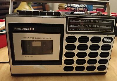 VINTAGE 1975 PANASONIC RQ 517S AM/FM RADIO CASSETTE  JAPAN- Tested and Working