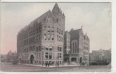 Lithograph - Kansas City, MO - City Hall - early 1900s