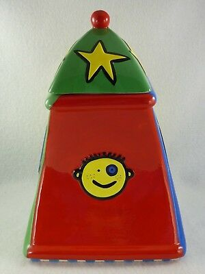Todd Parr Cookie Jar ToddWorld Book Character Faces Treasure Craft Canister Lid