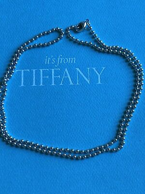 """Authentic Tiffany & Co Sterling Silver 24"""" Bead Chain necklace"""