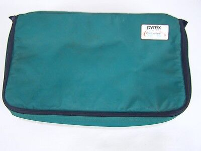 """Pyrex Portables The Way To Go Green Blue Insulated Carry Bag 13""""x8""""x3"""""""