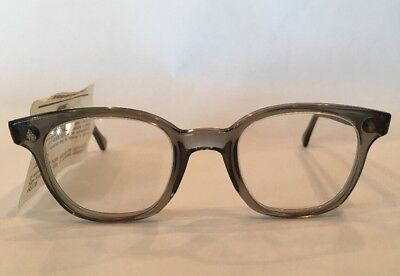 American Optical AO Vintage Safety Glasses Frames NEW Clear Lenses Hipster Grey