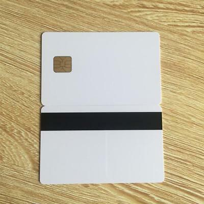 White PVC Card with SLE4428 Chip Contact Smart Card Hotel Key Card Magnetic Stri