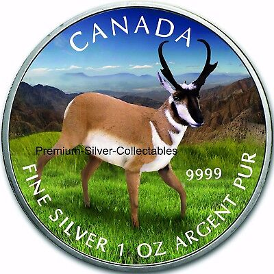 2013 Canada Wildlife Series Pronghorn Antelope 1 Ounce Pure Silver Coin 5 of 6!!