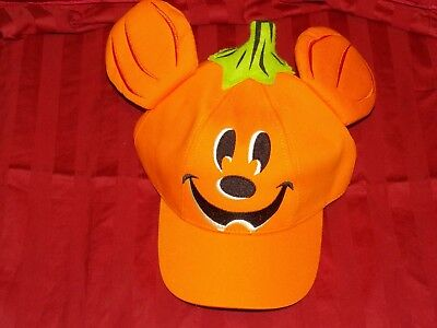 Disney Parks Candy Mickey Pumpkin Halloween Hat New with tags (Youth Size)