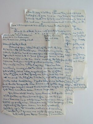WWII Letter New Guinea Pacific Asiatic Theater Battle Star Pittsfield MA #8202