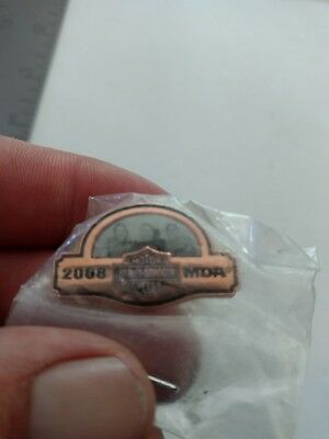 I HARLEY-DAVIDSON VEST JACKET PIN hat lapel pin MDA 2008 Muscular Dystrophy