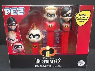 Incredibles 2 Pez Gift Set of 3 with Mini Jack-Jack dispenser